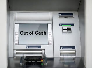 ATM runs out of money due to cash denomination shortfall