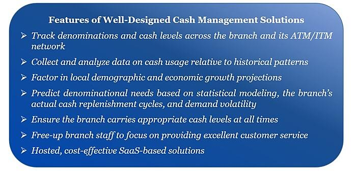 Features of well-designed cash management software systems and solutions