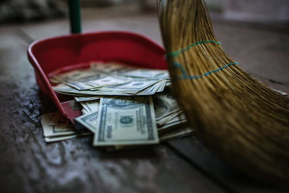 Sweeping money